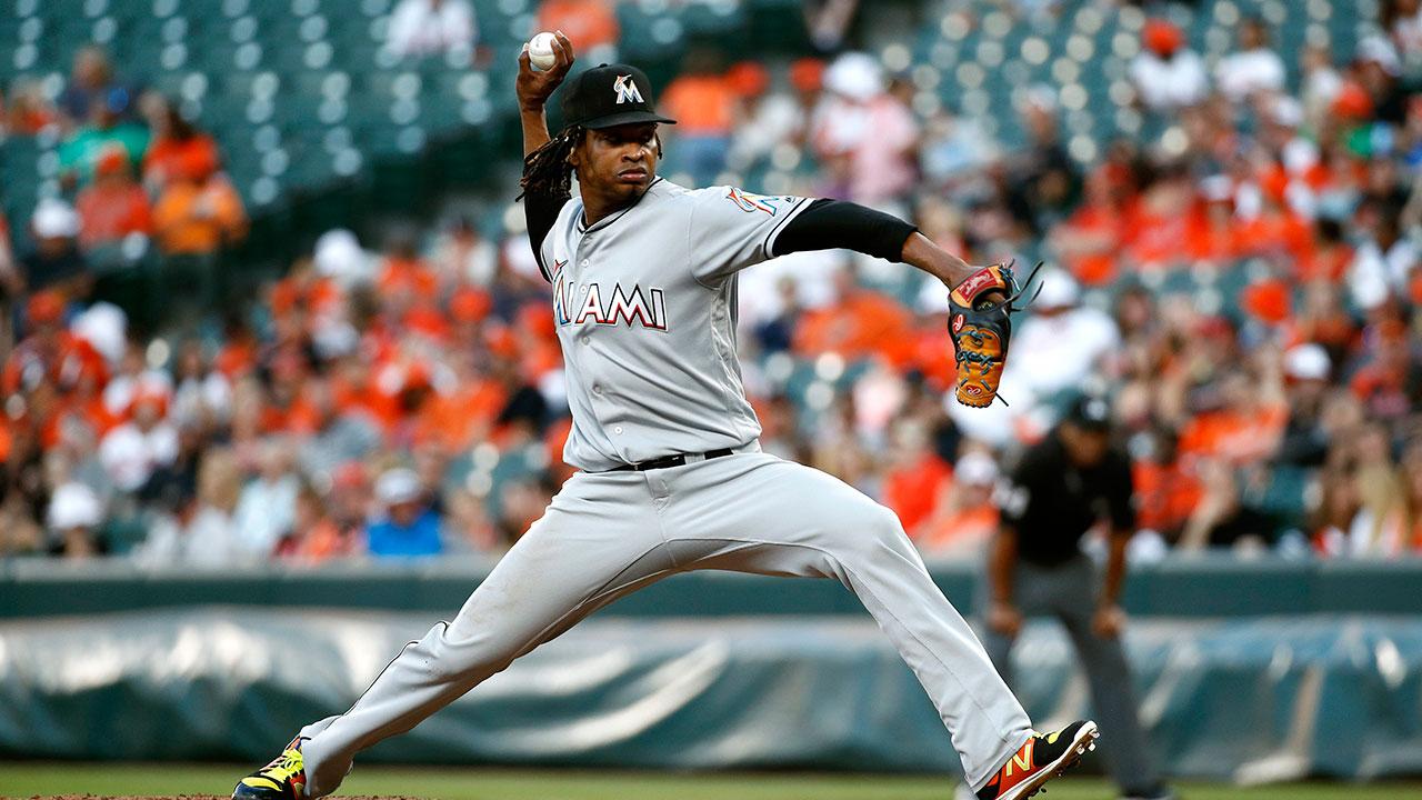 MLB suspends Marlins pitcher Urena six games for plunking Acuna Jr.