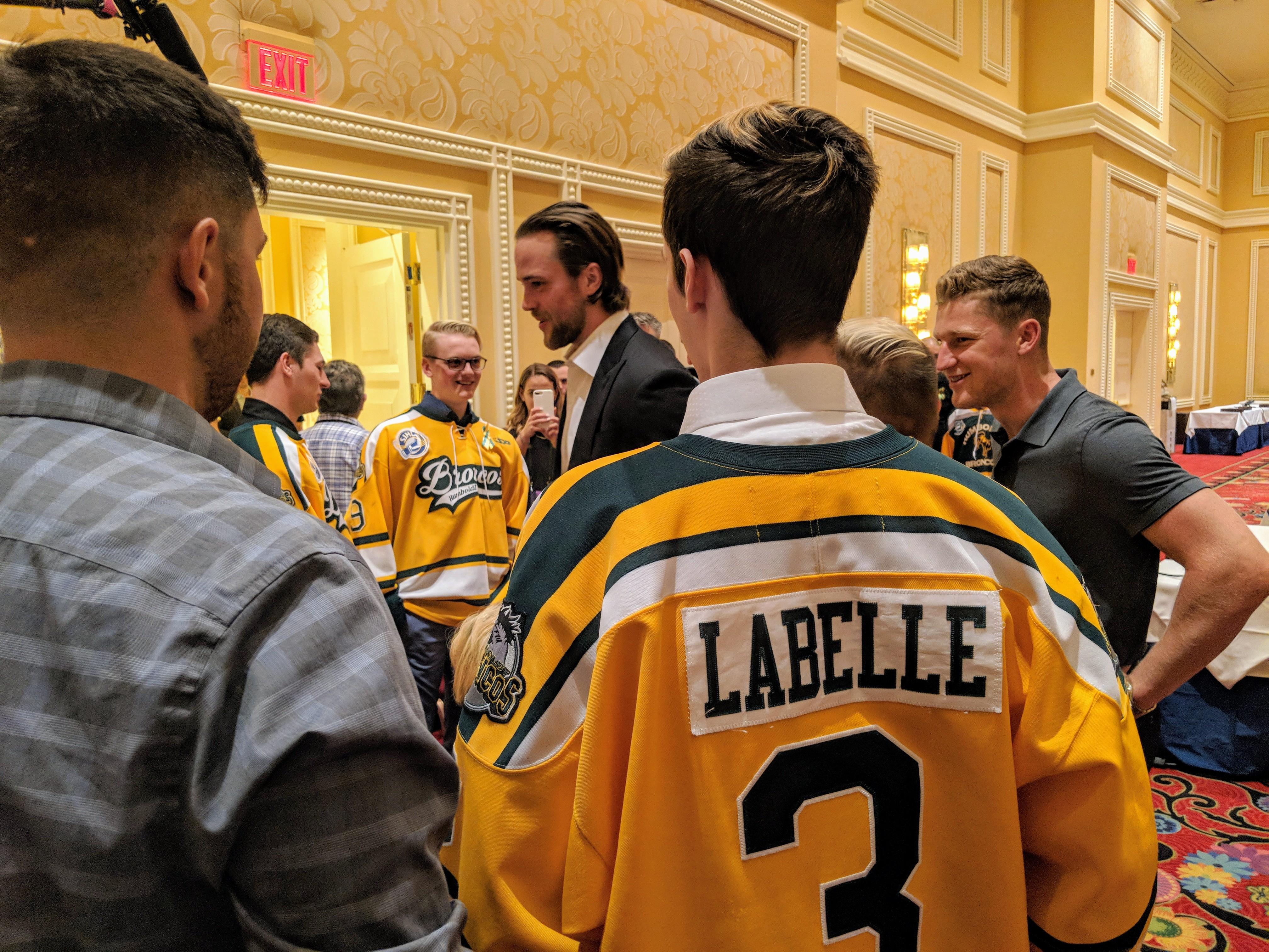 57f53945e Surviving Humboldt Broncos reunite for special moment at NHL Awards ...
