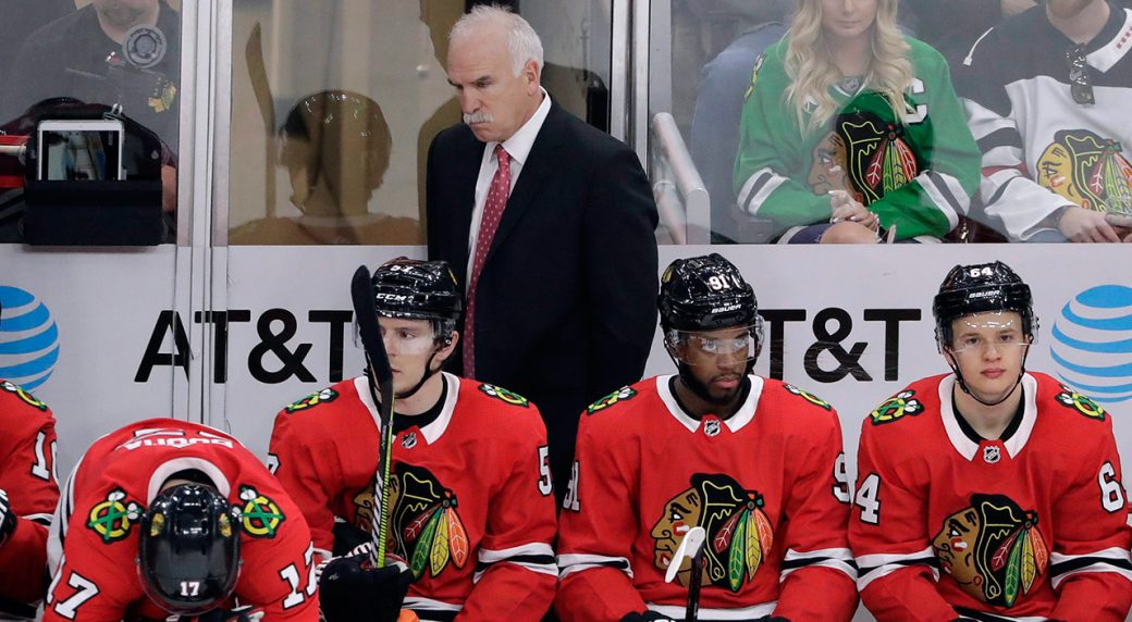 3e04d1fb8 Chicago Blackhawks head coach Joel Quenneville has been relieved of his  duties. (Nam Y. Huh AP)