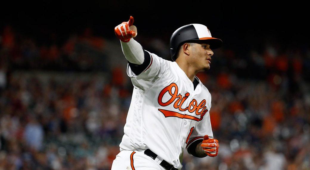 MLB-Orioles-Machado-celebrates-after-home-run