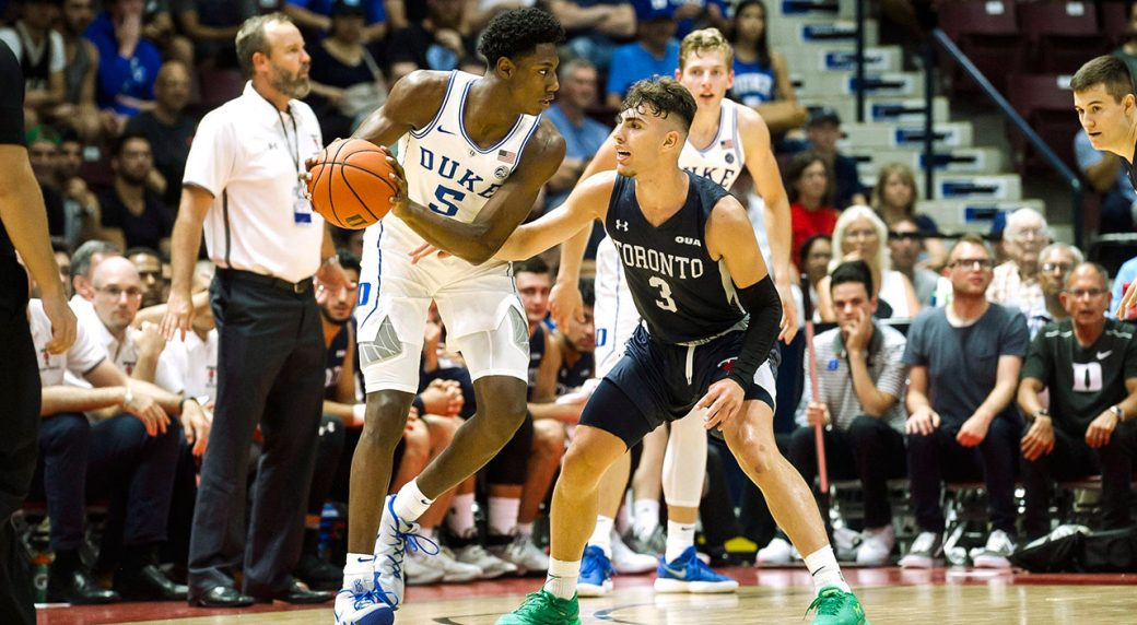 RJ Barrett scores 35 points, Duke beats Toronto 96-60