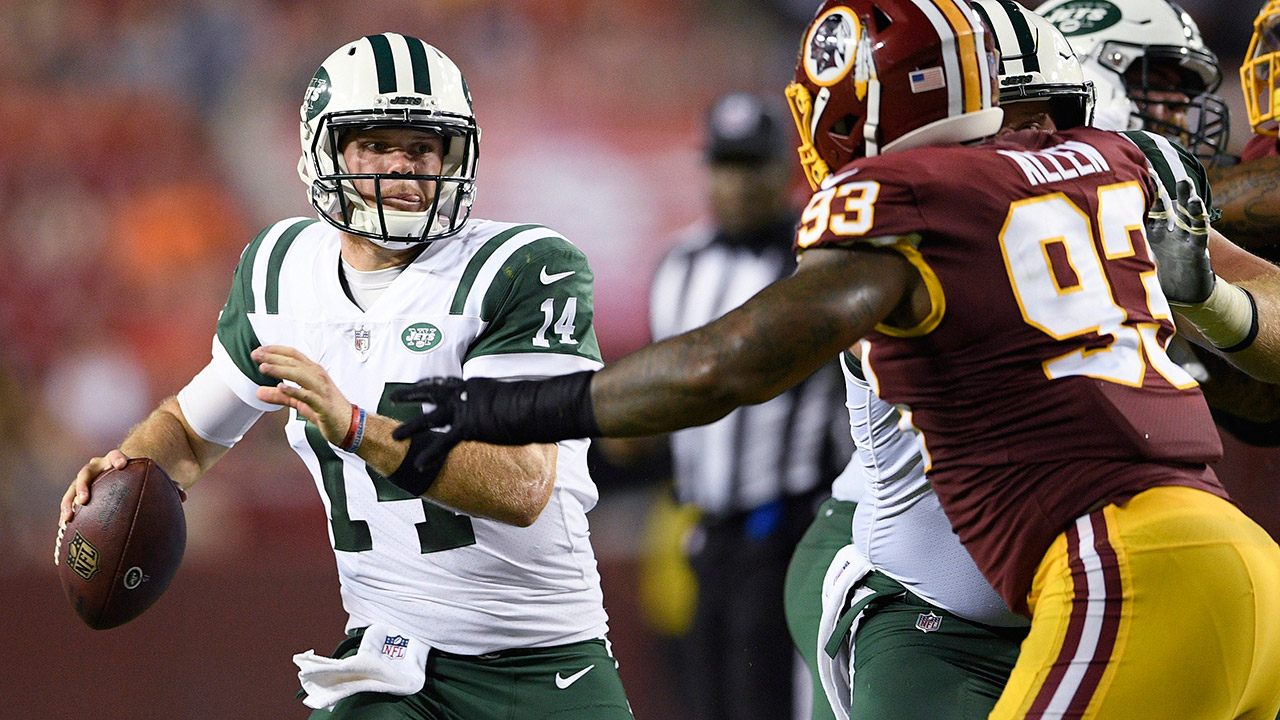 Jets' Darnold has rough start in loss to Redskins