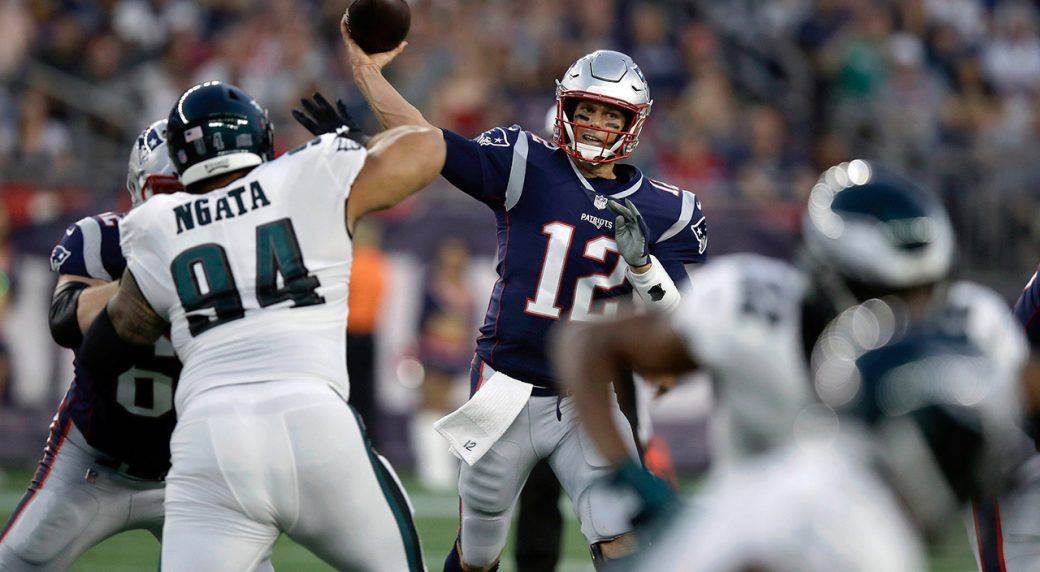 Tom Brady and Nick Foles put handshake issue to bed
