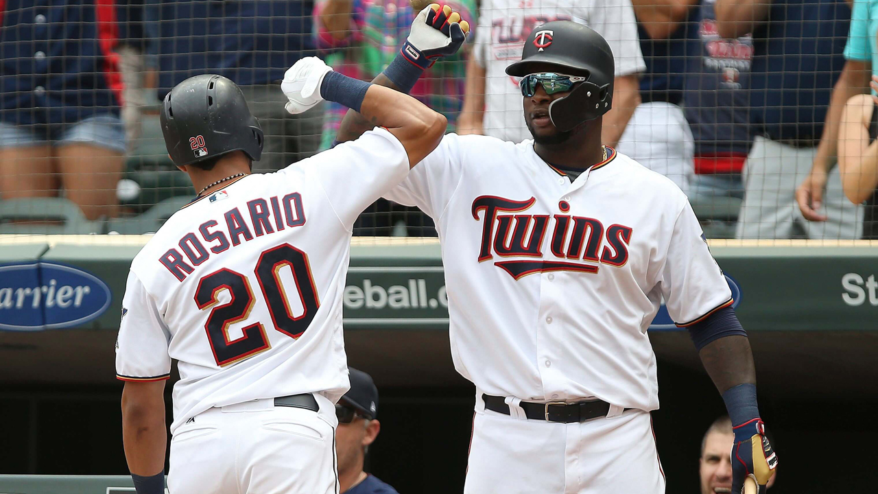 Eddie-rosario-is-congratulated-after-hitting-a-go-ahead-home-run
