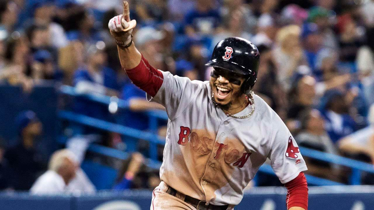 Mlb-red-sox-betts-celebrates-cycle