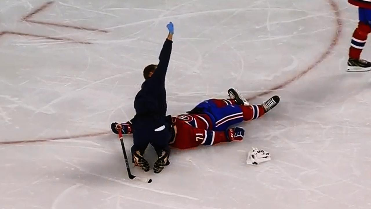 Canadiens Jake Evans Released From Hospital In Concussion Protocol 0291 Kaos Giordano