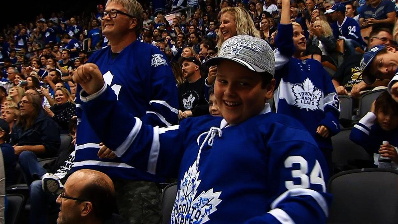 Maple Leafs score twice in 23 seconds against Sabres
