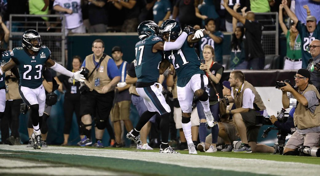 Philadelphia-Eagles'-Malcolm-Jenkins-(left),-and-Ronald-Darby-celebrate-their-win