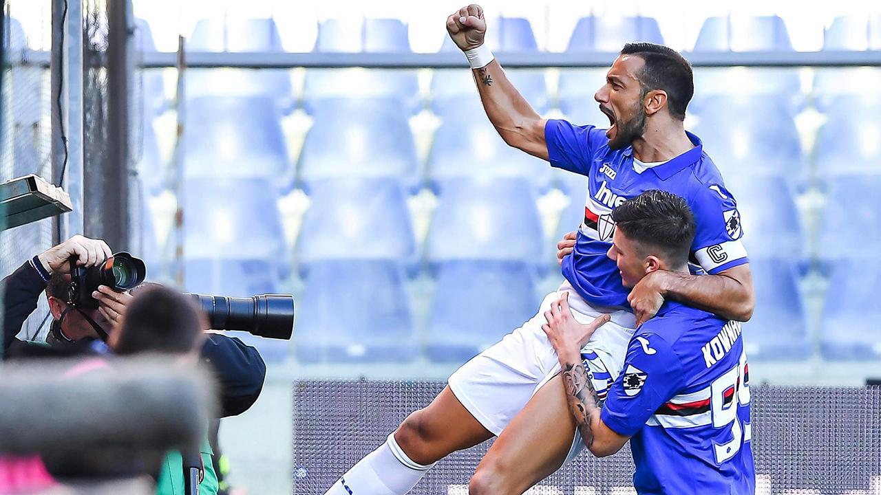 Quagliarella's stunning goal leads Sampdoria past Napoli in Serie A