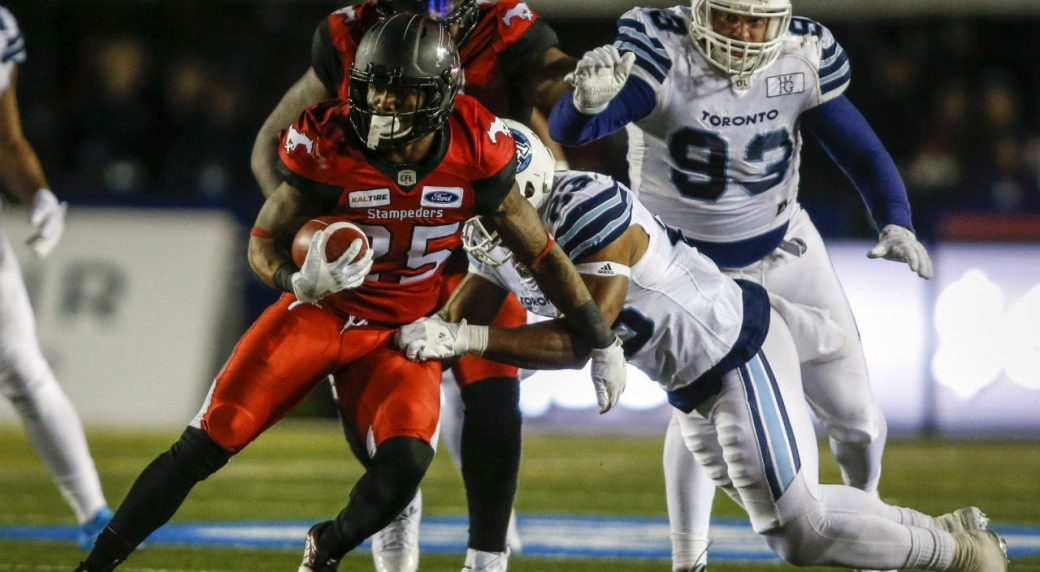 9e5dbdef217 Stampeders clinch playoff spot with win over Argos - Sportsnet.ca