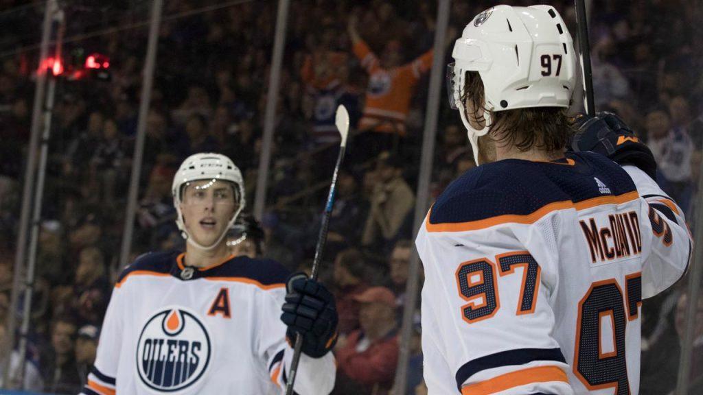 17085b5d7 Connor McDavid s power play goal leads Edmonton Oilers over New York Rangers