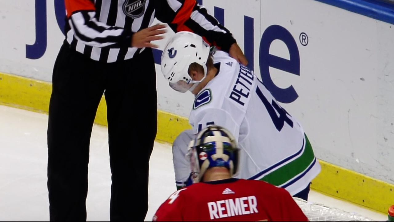 Panthers' Matheson suspended 2 games for hit on Elias Pettersson