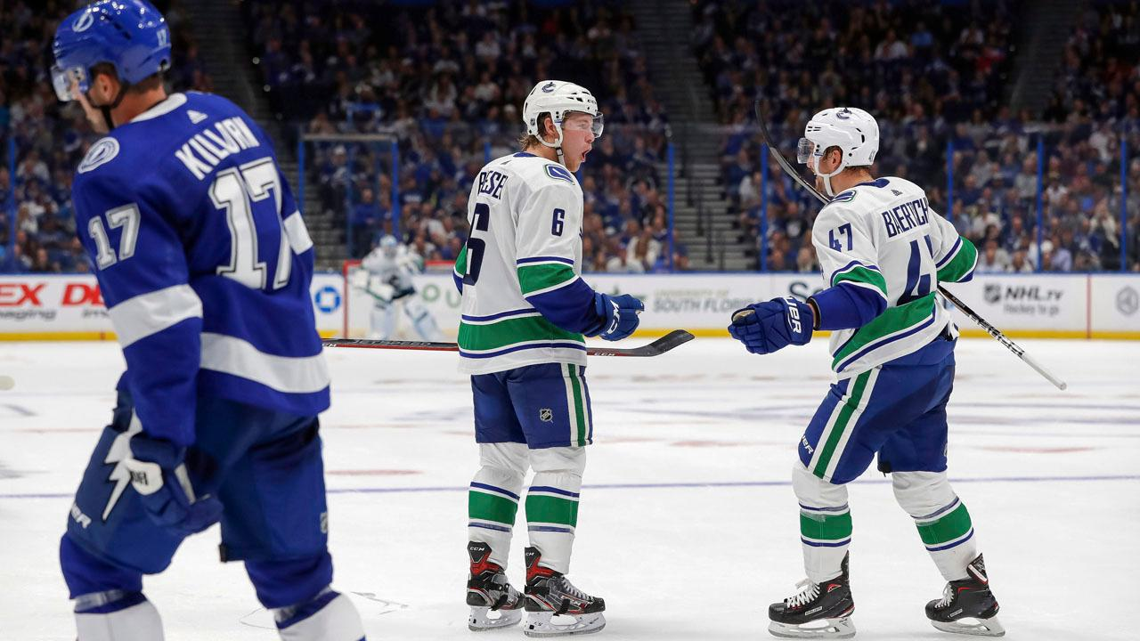 Boeser's OT winner drives Canucks past Penguins