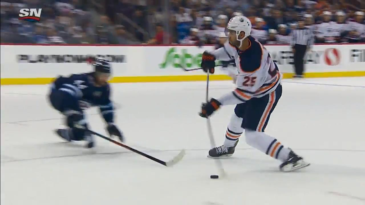 Nurse completes Oilers comeback to down Jets in OT