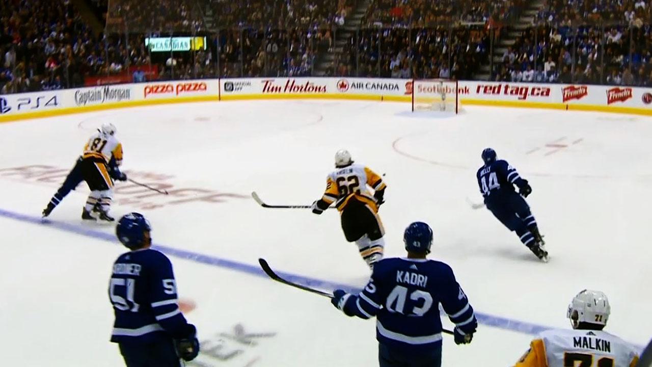 Maple Leafs' Kadri accidentally scores own goal on empty net