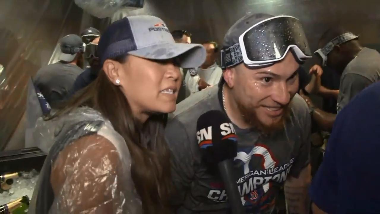 Champagne-covered Vazquez praises Price's performance