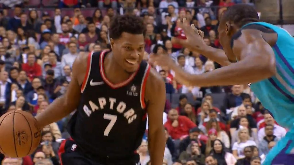 Lowry can t help but smile when Biyombo guards him - Sportsnet.ca a3d2fb787