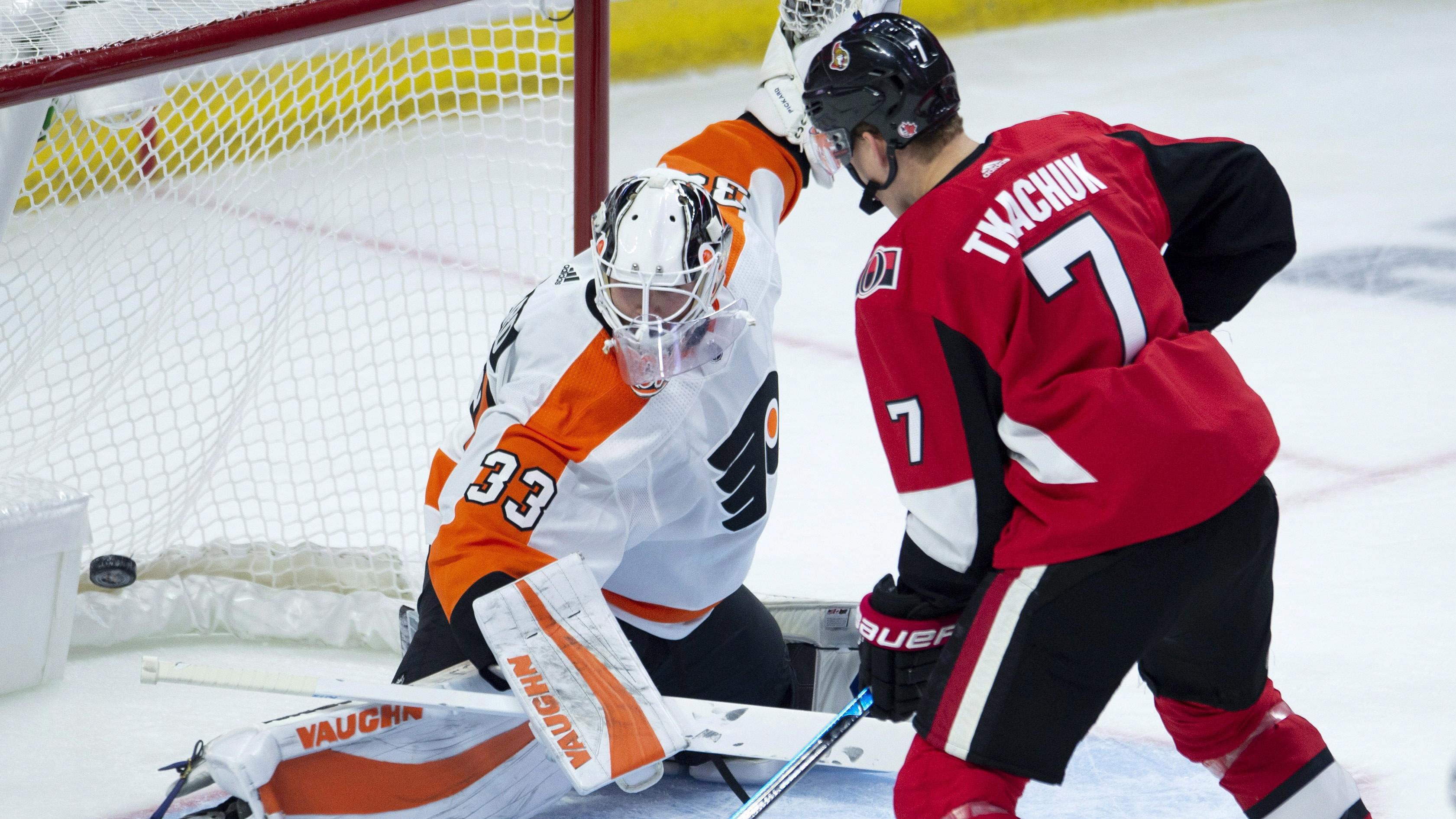 a60741b9d Brady Tkachuk scores 1st NHL goal as Senators fall to Flyers