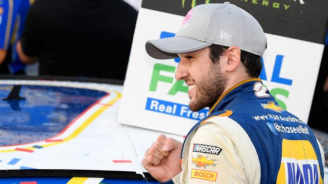 Auto-racing-Chase-Elliott-celebrates-after-winning-race
