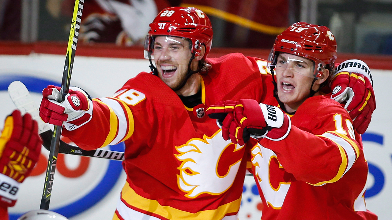 Elias Lindholm Scores Twice As Flames Rally To Beat Canucks