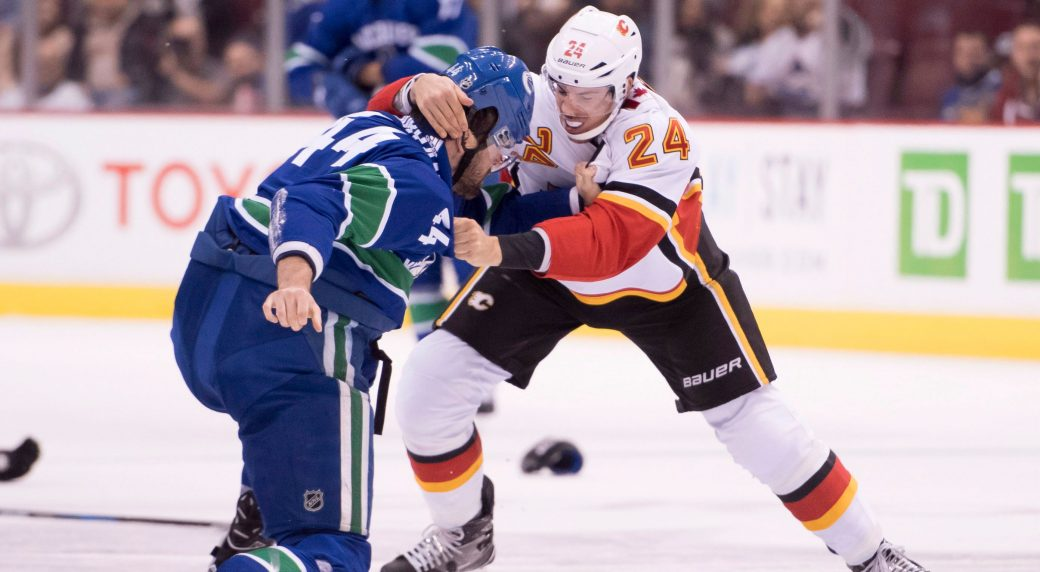 cfd6adbb8 Hamonic incident shows hockey world still divided on fighting s role. Vancouver  Canucks ...