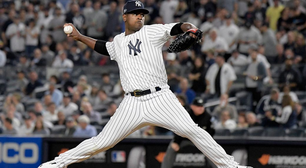 86a22282c677 New York Yankees starting pitcher Luis Severino throwing. (Bill Kostroun AP)