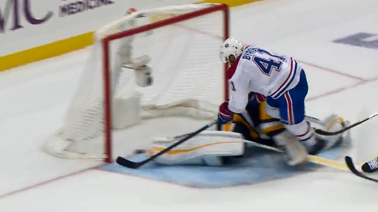 Canadiens' Byron rips through Penguins for beautiful goal