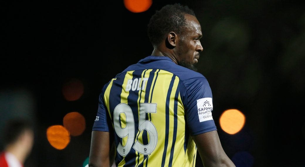 edbe7a63e Usain Bolt scores 2 goals in first start for Central Coast Mariners ...