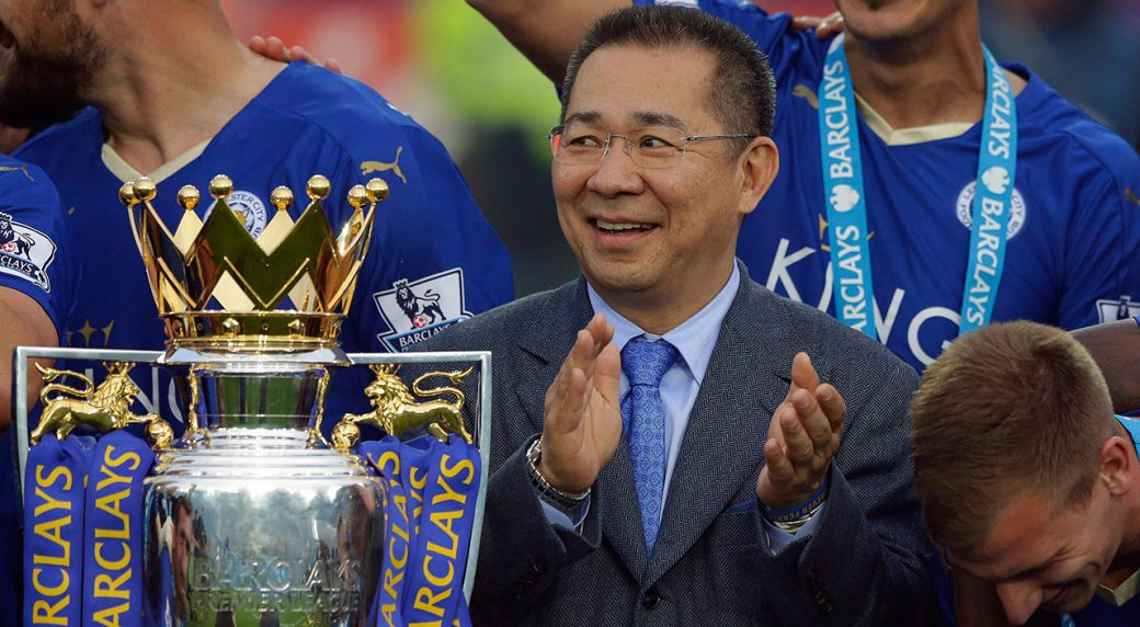 Leicester City owner Srivaddhanaprabha dies in helicopter crash. Vichai  Srivaddhanaprabha ... 399077392