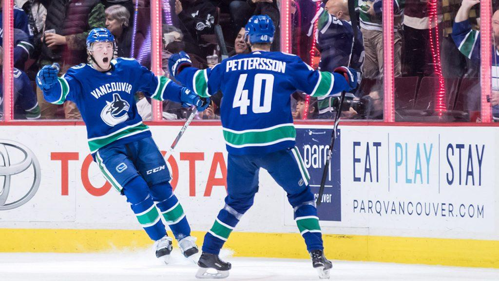 25aa46b53 NHL Plays of the Week  Elias Pettersson s beauty bank pass - Sportsnet.ca