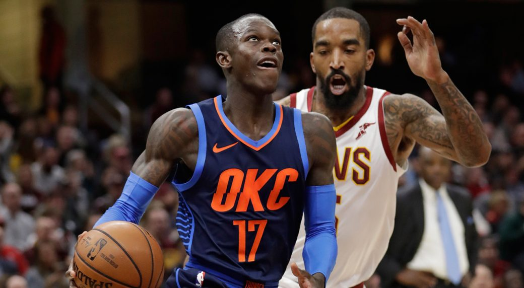 Thunder routs Rockets 98-80 for seventh consecutive win