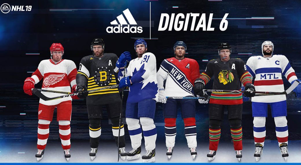 EA Sports and adidas have released special edition sweaters for the NHL  Original Six to be used in the NHL 19 video game. 5864e27143b