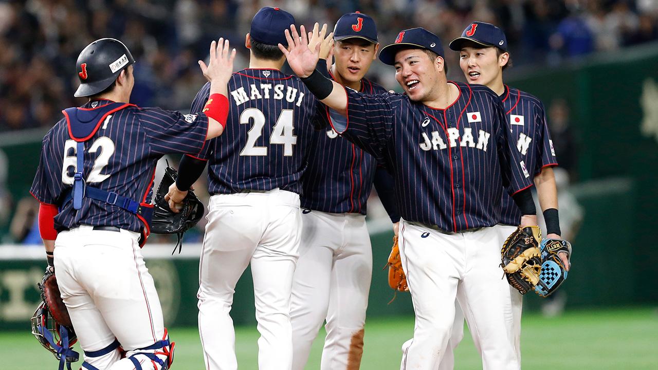 Mlb-japan-celebrates-win-over-mlb-all-stars