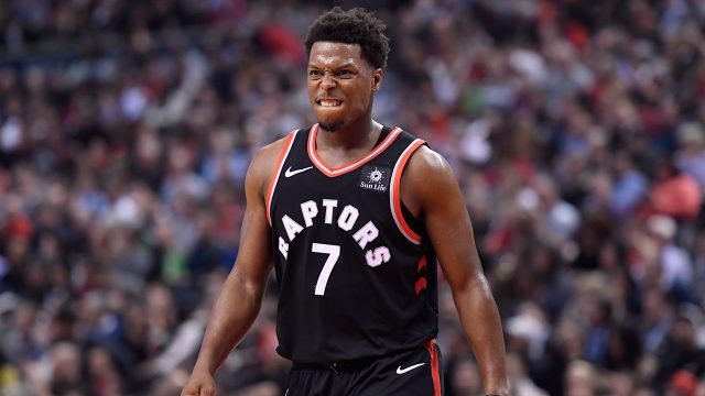 NBA-Raptors-Lowry-reacts-against-Pelicans