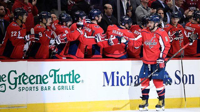 NHL-hockey-Ovechkin-celebrates-goal-against-Oilers