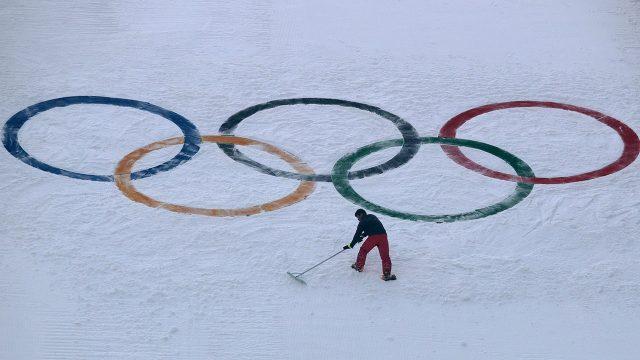 Olympics-logo-on-ski-hill