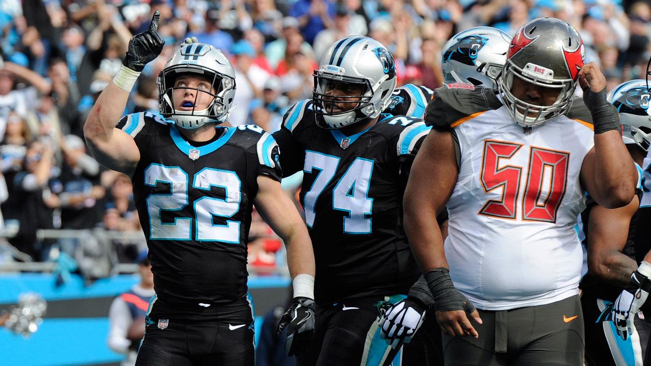 Newton, McCaffrey lead Panthers past Bucs