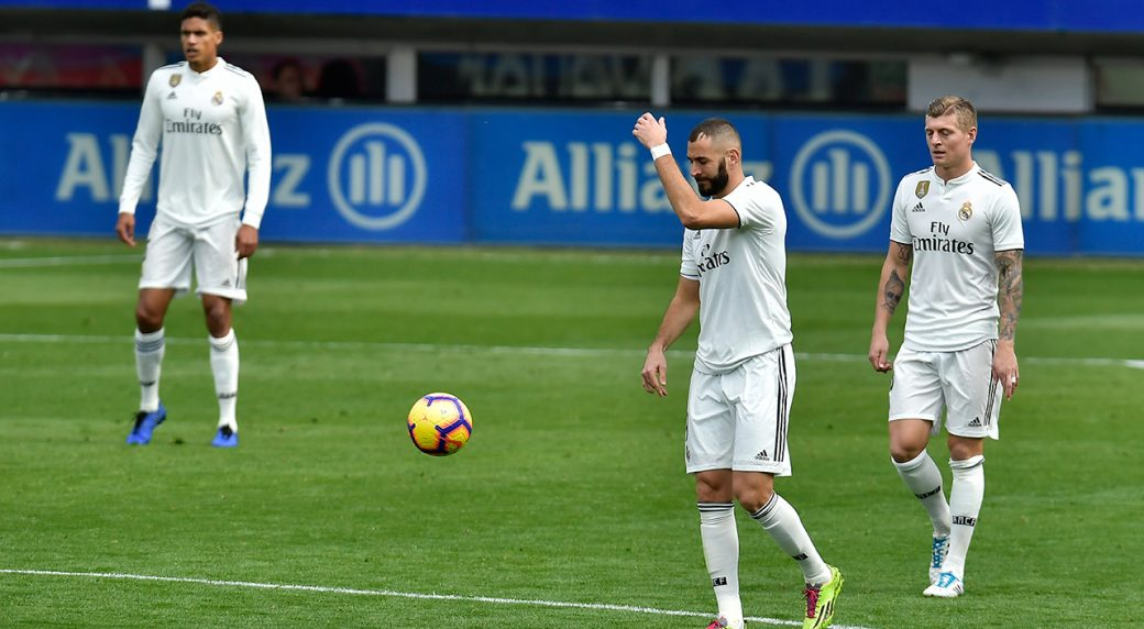 real madrid s perfect run under solari ends with loss to eibar