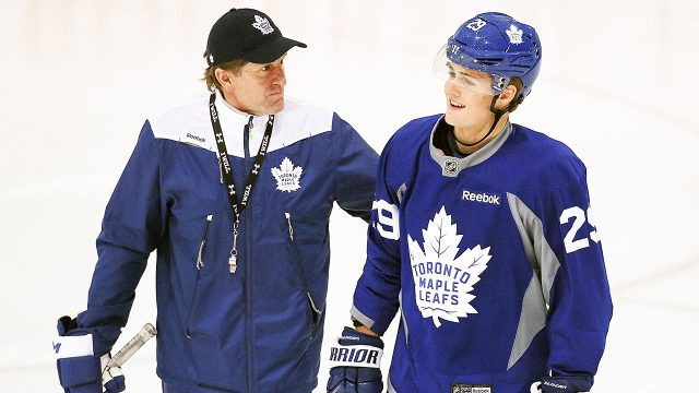 Mike-Babcock;-William-Nylander;-Maple-Leafs