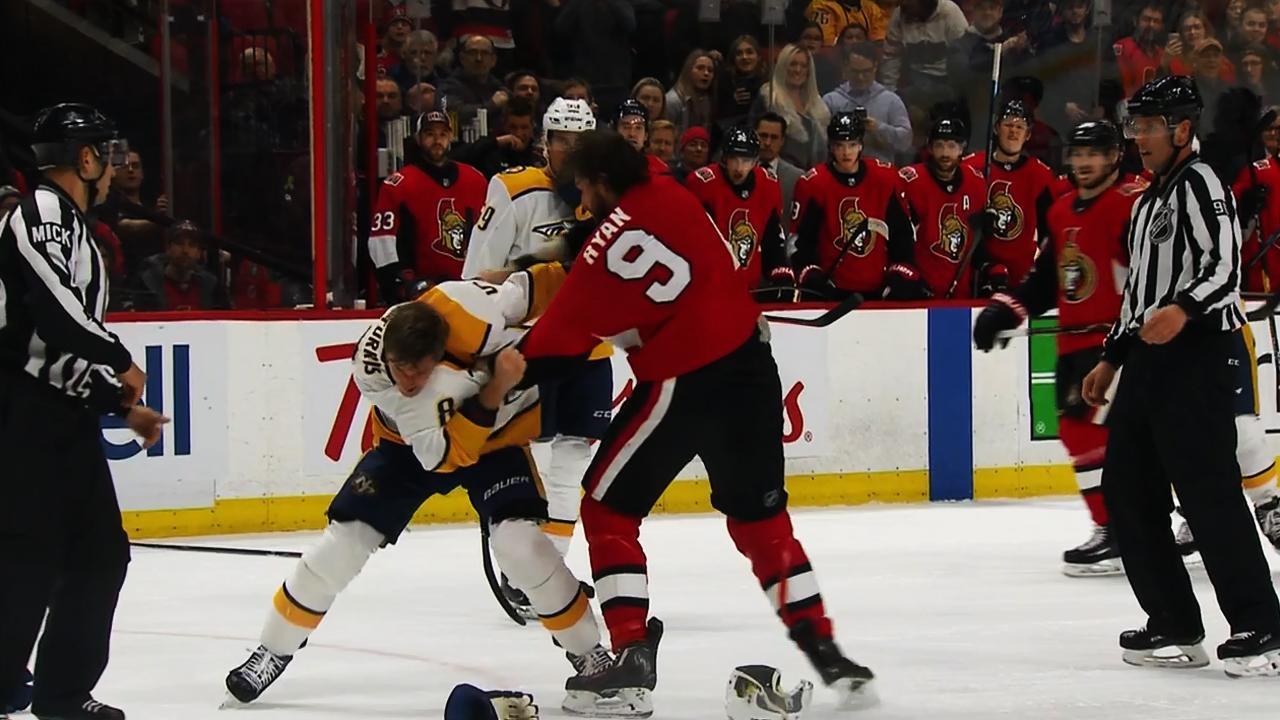 Bobby Ryan, Kyle Turris have spirited fight in Ottawa