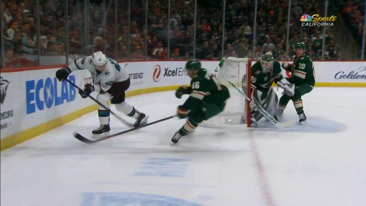 Radil's insane no-look backhander feeds Couture for sweet goal