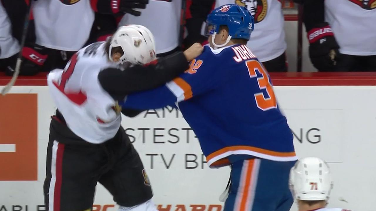 Isles And Sens Exchange Punches, Not Presents