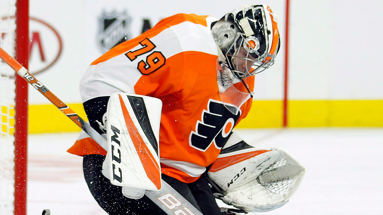 flyers goalie carter hart to make nhl debut vs red wings sportsnet ca