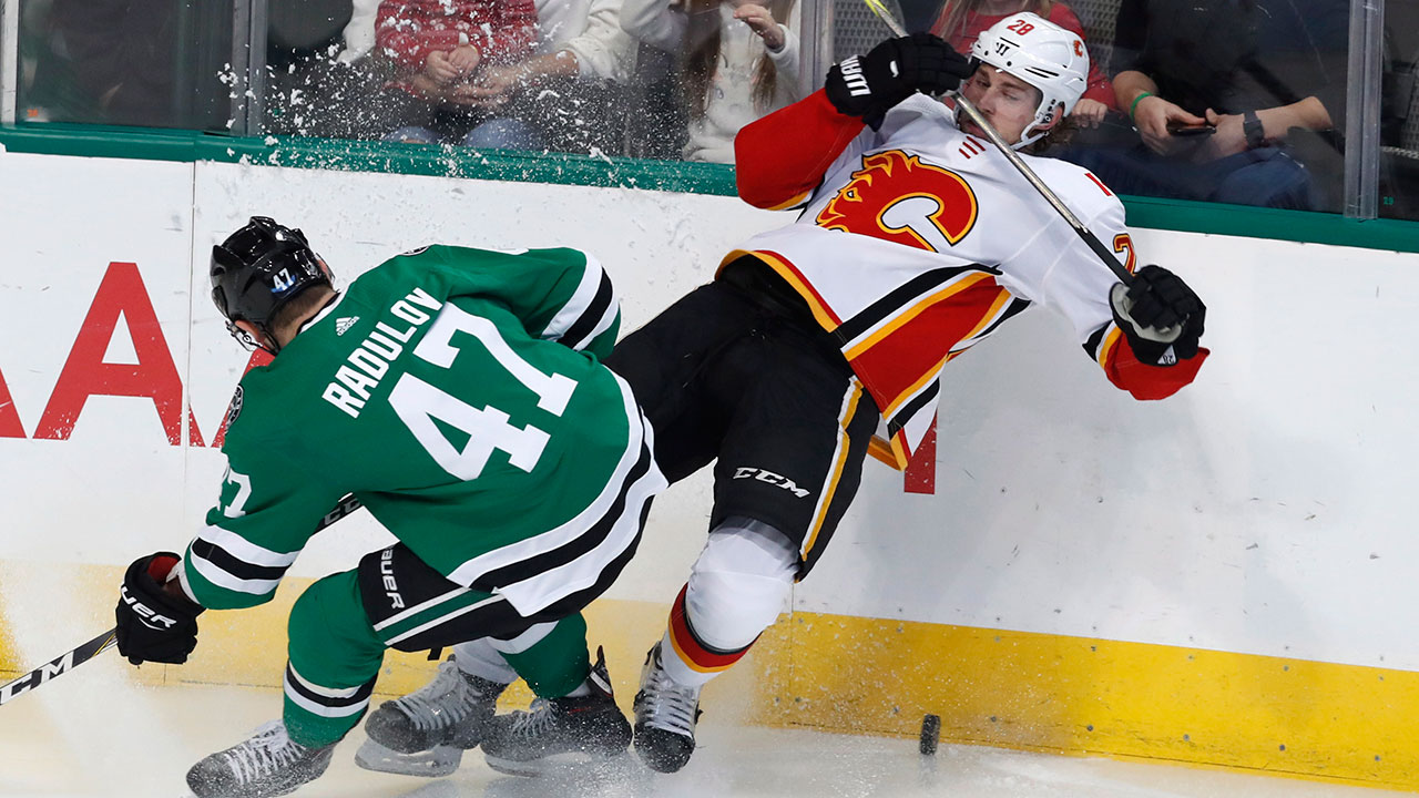 Takeaways: Flames run out of third-period miracles in Dallas
