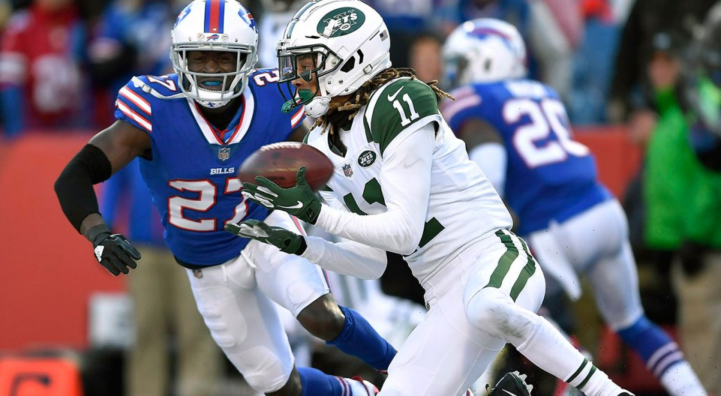 0e846f0c51e Jets tender second-round offer to receiver Robby Anderson.  Jets_Bills_Receiver_Robby_Anderson_Catches_Ball. New York Jets wide ...