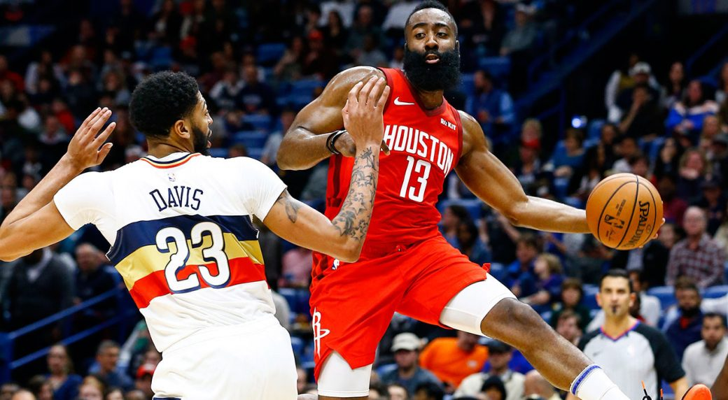 396f2b0f511f Harden scores 41 points to lead Rockets past Pelicans. Houston Rockets  guard James ...