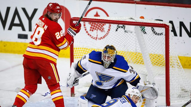 Allen Blues Down Flames To Hand Calgary Third Straight Loss