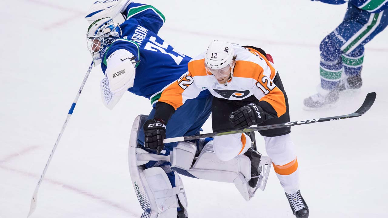 NHL Hits of the Week: Jacob Markstrom huge collision with Michael Raffl