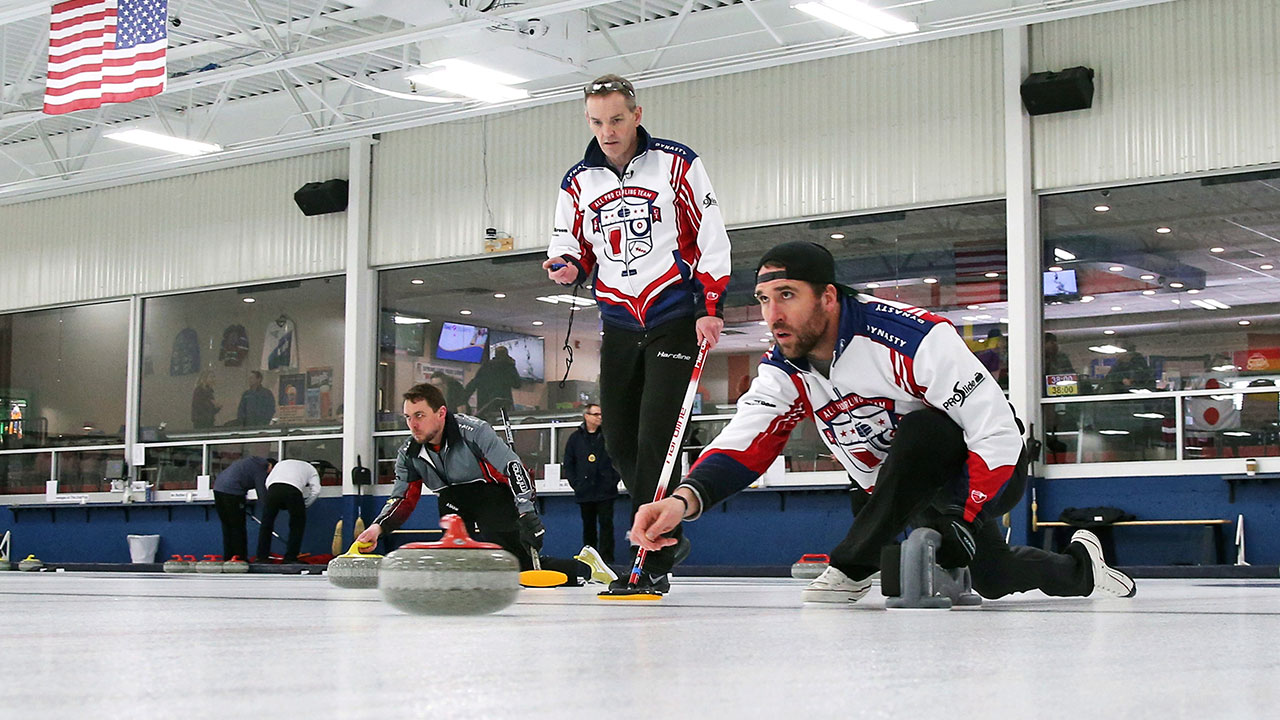 Jared_Allen_John_Benton_Practices_Curling