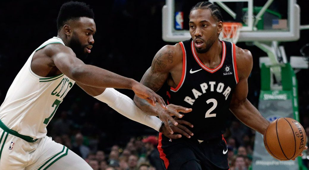 Kyrie Irving led the Boston Celtics past the Toronto Raptors